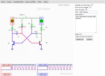 image simulated circuit screenshot